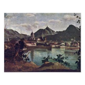 """City And Lake Como, Italian: La Città E Il Lago Di 4.25"""" X 5.5"""" Invitation Card"""