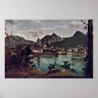 City And Lake Como, Italian: La Città E Il Lago Di Poster