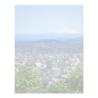 City and Mountain View of Portland, Oregon, USA Letterhead
