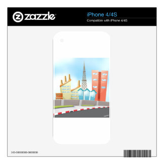 City and road decals for the iPhone 4S