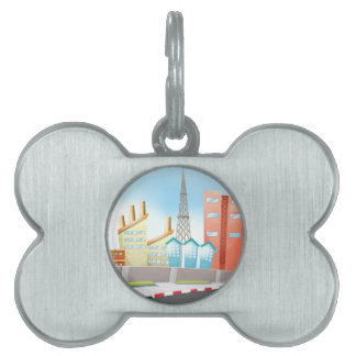 City and road pet name tag
