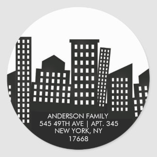 CITY APARTMENT | New Home Address Label Sticker