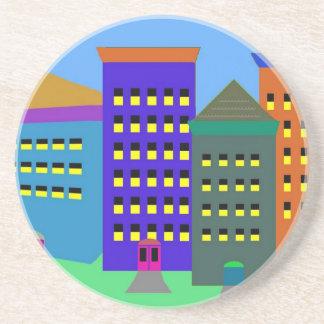 City Art on Sandstone Coaster