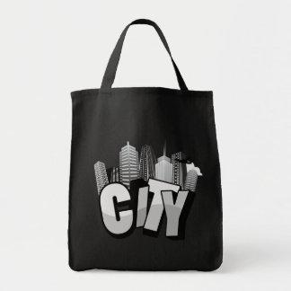 city artwork dark original bag