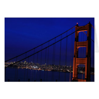 City at dusk card