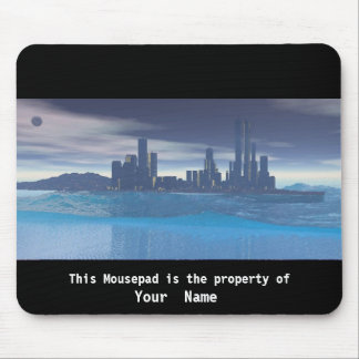 City at Dusk Mousepad Mouse Pad