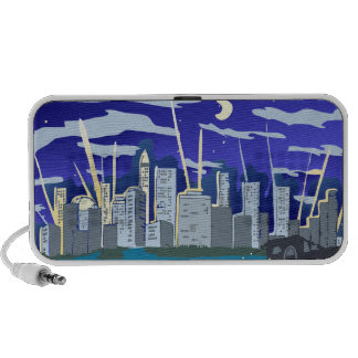 City at Night Portable Speaker