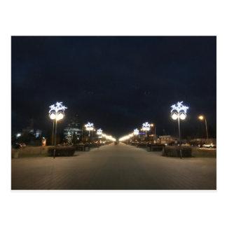 City at night postcard