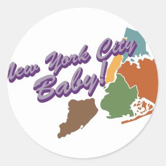 City Baby Classic Round Sticker