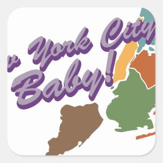 City Baby Square Sticker