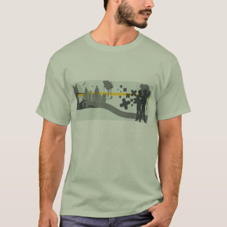City Background w/ 2 People in the Foreground T-Shirt