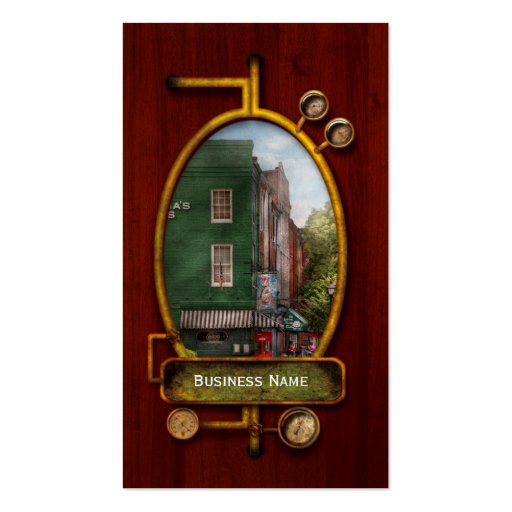 City - Baltimore, MD - Fells Point, MD - Bertha's  Business Card Template