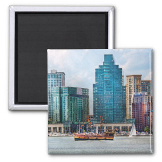 City - Baltimore MD - Harbor east 2 Inch Square Magnet