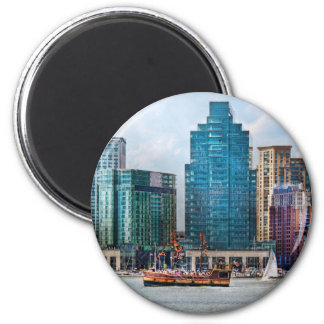 City - Baltimore MD - Harbor east 2 Inch Round Magnet