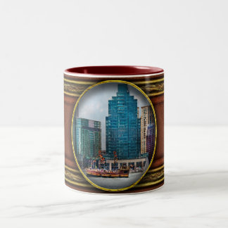 City - Baltimore MD - Harbor east Two-Tone Coffee Mug
