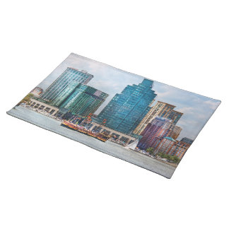 City - Baltimore MD - Harbor east Cloth Place Mat