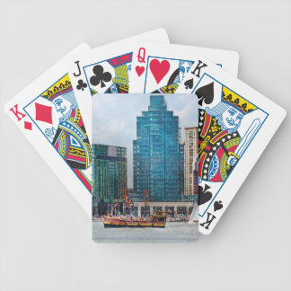 City - Baltimore MD - Harbor east Bicycle Playing Cards