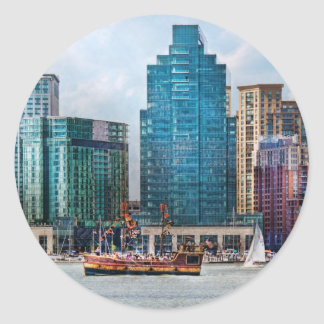 City - Baltimore MD - Harbor east Classic Round Sticker