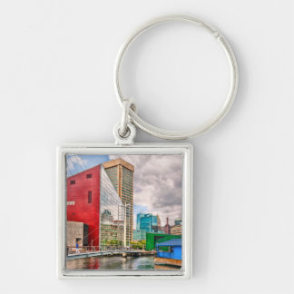 City - Baltimore MD - Harbor Place - Future City Keychain