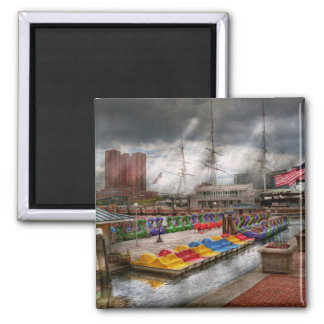 City - Baltimore MD - Modern Maryland 2 Inch Square Magnet