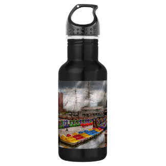 City - Baltimore MD - Modern Maryland 18oz Water Bottle