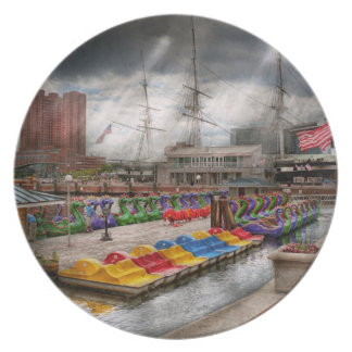 City - Baltimore MD - Modern Maryland Party Plates
