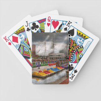 City - Baltimore MD - Modern Maryland Bicycle Playing Cards