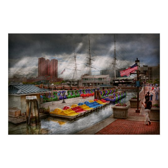 City - Baltimore MD - Modern Maryland Poster