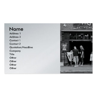 City - Baltimore, MD - Tag Galleries Double-Sided Standard Business Cards (Pack Of 100)