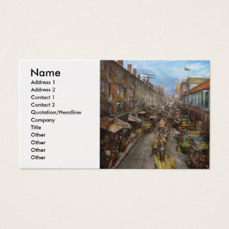 City - Baltimore MD - Traffic on light street 1906 Business Card