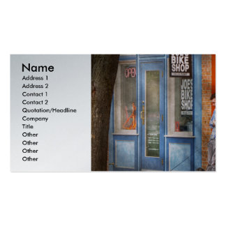 City - Baltimore, MD - Waiting by Joe's bike shop Double-Sided Standard Business Cards (Pack Of 100)