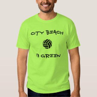 City Beach 13 green team shirt
