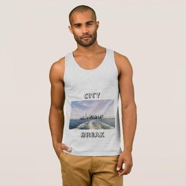 Beach Themed City Beak Tank Top