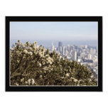 """City Behind the Bushes 4.25"""" X 5.5"""" Invitation Card"""