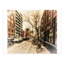 City Bicycles in Downtown Toronto by Shawna Mac Postcard