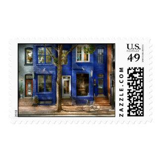 City - Bike - Alexandria, VA - The urbs Postage Stamps