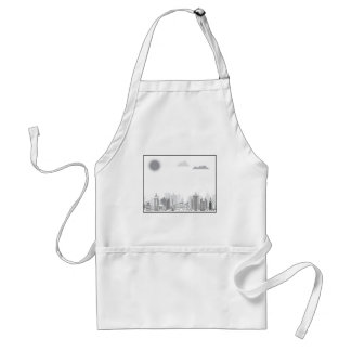 City black and white adult apron