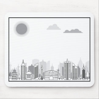 City black and white mouse pad