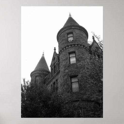 city black and white print