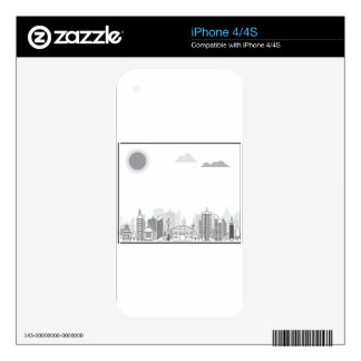 City black and white skins for iPhone 4