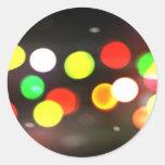 City Bokeh Blur Classic Round Sticker