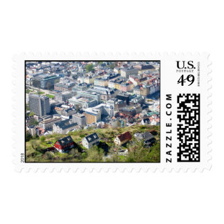 City Border - Bergen From Above Postage