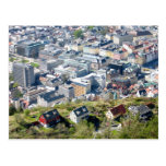 City Border - Bergen From Above Postcard