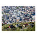 City Border - Bergen From Above Poster