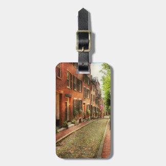 City - Boston MA - Acorn Street Bag Tag