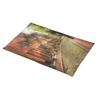 City - Boston MA - Acorn Street Cloth Placemat
