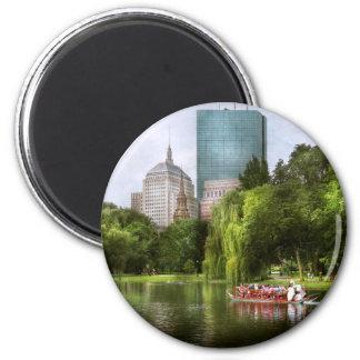 City - Boston Ma - Boston public garden 2 Inch Round Magnet