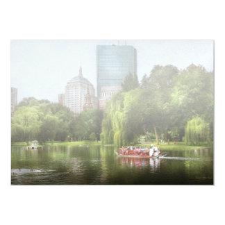 City - Boston Ma - Boston public garden Card