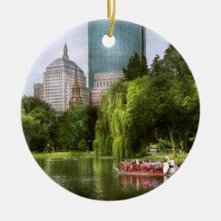 City - Boston Ma - Boston public garden Ceramic Ornament