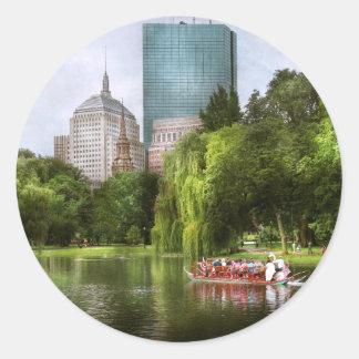 City - Boston Ma - Boston public garden Classic Round Sticker